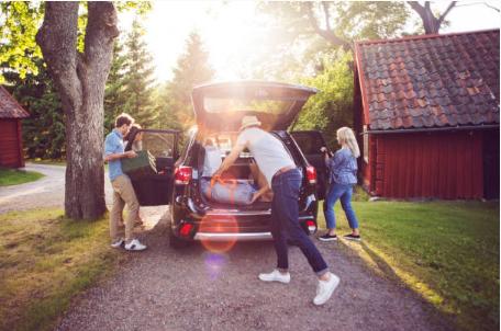 bagages voiture vacances famille